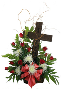 Old Rugged Cross with Rose Spray in Denver CO, Lehrer's Flowers