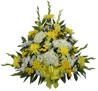 Sunshine Sentiments Basket Deluxe in Denver CO, Lehrer's Flowers