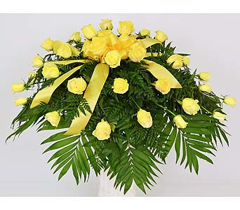 Sunshine Memories Casket Spray in Indianapolis IN, Gillespie Florists