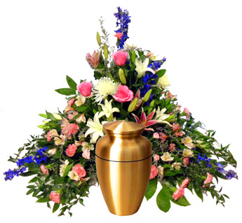 Pastel Pyramid Cremation Setting in Denver CO, Lehrer's Flowers