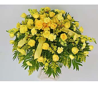 Uplifting Sun Casket Spray in Indianapolis IN, Gillespie Florists