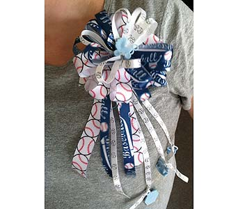 Baby Boy Ribbon Corsage in Creedmoor NC, Gil-Man Florist Inc.