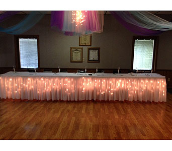 Tulle Dance Floor Drape in Loudonville OH, Four Seasons Flowers & Gifts