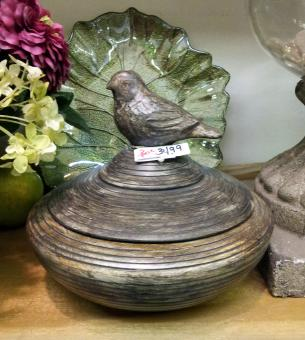 LIDDED BIRD BOX in Oxford MI, A & A Flowers