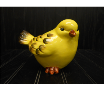 Large Yellow Bird Figure in Ionia MI, Sid's Flower Shop