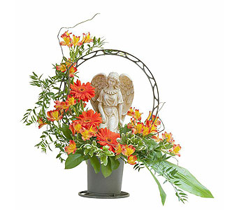 Heaven's Sunset Angel Basket in Metairie LA, Villere's Florist