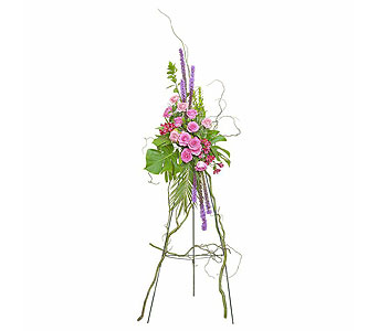 Peaceful Pink Standing Spray in Broomfield CO, Bouquet Boutique, Inc.