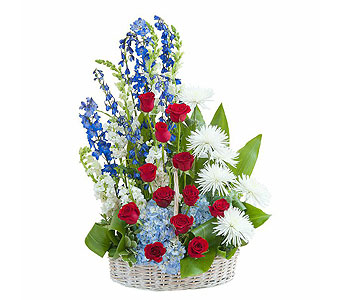 Honor Basket Tribute in Lakehurst NJ, Colonial Bouquet