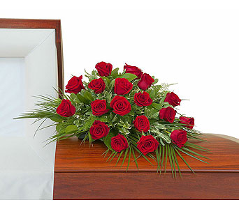 Simply Roses Casket Spray in Metairie LA, Villere's Florist