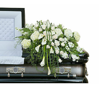 Elegant Love Casket Spray in Holladay UT, Brown Floral