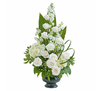 Elegant Love Urn in West Des Moines IA, Nielsen Flower Shop Inc.