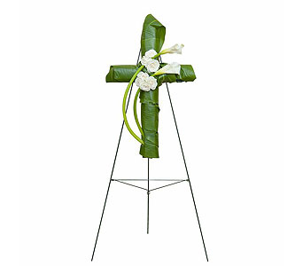 Elegant Love Graceful Cross in Fort Pierce FL, Giordano's Floral Creations