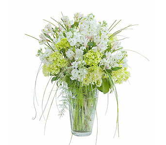White Elegance Vase in Huntington IN, Town & Country Flowers & Gifts