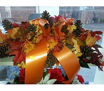 Fall monument topper in Statesville NC, Brookdale Florist, LLC