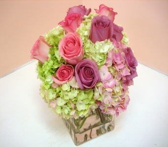 Hydrangeas and Roses in San Francisco CA, Fillmore Florist