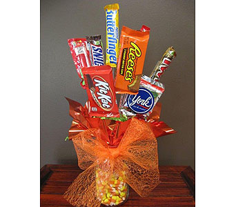 Fall Candy Bouquet in Alexandria MN, Anderson Florist & Greenhouse