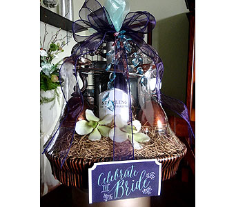Celebrate the Bride Basket in Tampa FL, Buds Blooms & Beyond