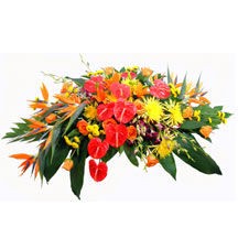 Tropical Paradise Cremation Setting in Winston-Salem NC, George K. Walker Florist