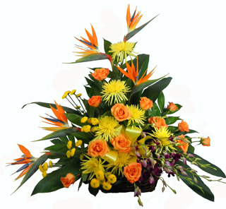 Tropical Paradise Birds of Paradise Rustic Basket in Winston-Salem NC, George K. Walker Florist