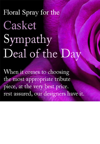 Sympathy Deal of the Day: Casket Spray in Winston-Salem NC, George K. Walker Florist