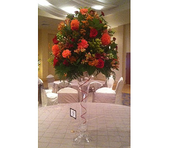 Executive Banquet Center Tall Centerpiece in Middletown DE, Forget Me Not Florist & Flower Preservation