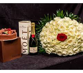 Champagne and Roses in San Antonio TX, Allen's Flowers & Gifts