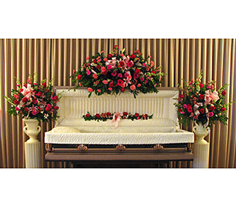 Fireside Full Casket Premium Collection in Richboro PA, Fireside Flowers