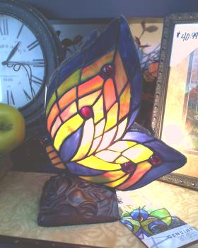 STAINED GLASS BUTTERFLY in Oxford MI, A & A Flowers