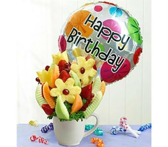 Birthday Bonanza Fruit Bouquet in Mount Morris MI, June's Floral Company & Fruit Bouquets