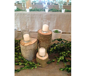 Small Wood Candle Holders in Loudonville OH, Four Seasons Flowers & Gifts