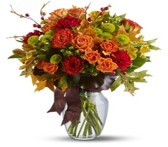 Fall Vase arrangement in Chicago IL, La Salle Flowers