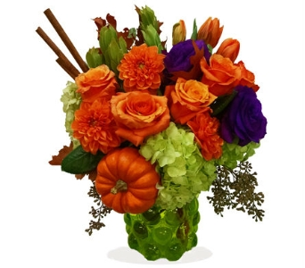 Orange Spice bouquet in Santa Monica CA, Edelweiss Flower Boutique