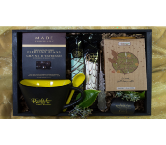 The Awake Bee Coffee Crate in Reno NV, Bumblebee Blooms Flower Boutique