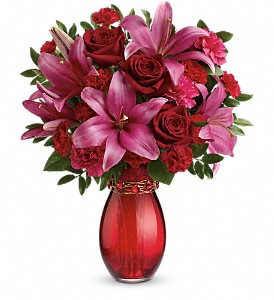 Teleflora's Crimson Kisses Bouquet in Grass Lake MI, Designs By Judy