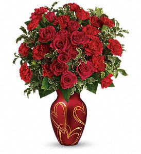 Teleflora's Hearts Of Gold Bouquet in Lockport NY, Gould's Flowers, Inc.
