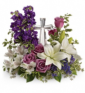 Teleflora's Grace And Majesty Bouquet in Bluffton IN, Posy Pot
