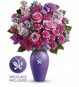 Teleflora's Roses And Butterflies Bouquet in Columbia Falls MT, Glacier Wallflower & Gifts