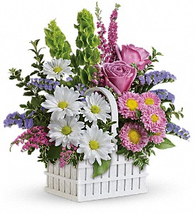 Teleflora's White Picket Bouquet in Hendersonville NC, Forget-Me-Not Florist