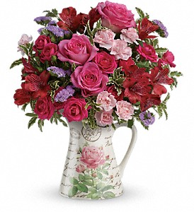 Teleflora's Simply Adored Bouquet in Hightstown NJ, South Pacific Flowers / Pottery Wheel Gallery