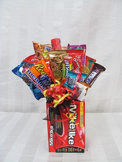 Mike & Ike chocolate bouquet in Brandon MB, Carolyn's Floral Designs