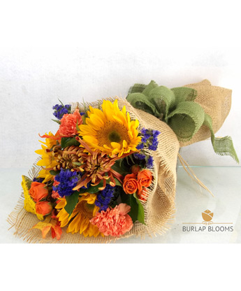 Burlap Blooms 'Let the Sunshine in' in Raleigh NC, Fallon's Flowers