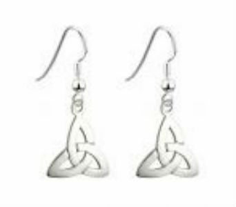 Sterling Silver Trinity Knots Drop Earrings in Willoughby OH, Plant Magic Florist