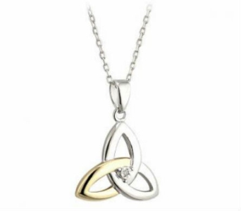 Sterling Silver & Gold Celtic Trinity Knot Pendant in Willoughby OH, Plant Magic Florist