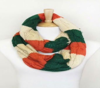 Love of Fashion Tri-Color Irish Infinity Scarf in Willoughby OH, Plant Magic Florist
