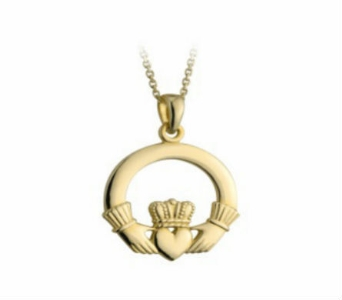 14 kt Claddagh Medium Pendant in Willoughby OH, Plant Magic Florist