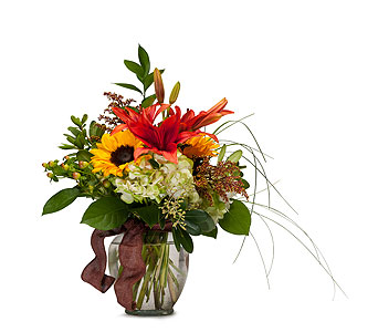 Color Me Autumn in Mount Morris MI, June's Floral Company & Fruit Bouquets