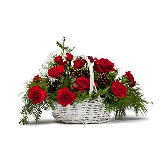 Classic Holiday Basket in Abington MA, The Hutcheon's Flower Co, Inc.