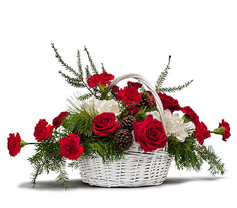 Holiday Basket Bouquet in Sarasota FL, Flowers By Fudgie On Siesta Key