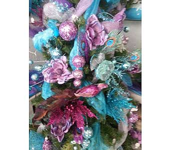 Purple and Teal Shimmer in Butte MT, Wilhelm Flower Shoppe