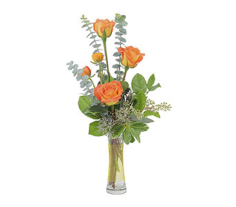 Orange Simplicity in Mount Morris MI, June's Floral Company & Fruit Bouquets